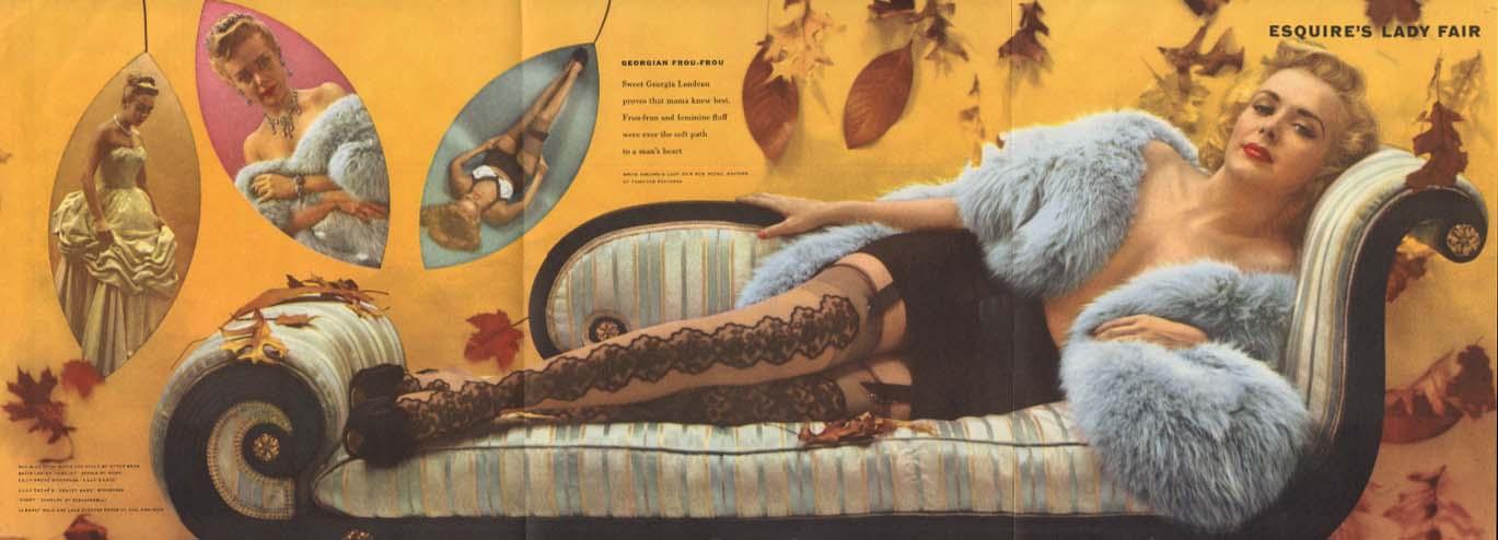 Esquire's Lady Fair Georgia Landeau Esquire foldout pin-up 1953