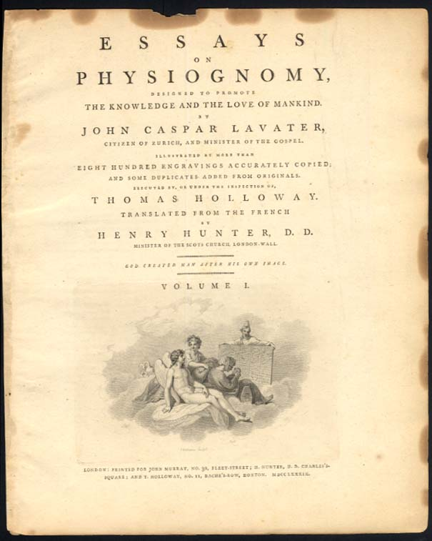 Lavater's Physiognomy plate 30 Thomas Holloway after Le Brun & Chodowiecki 1789