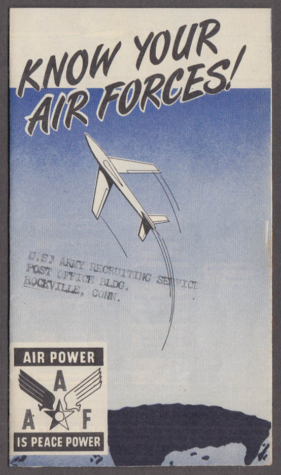Know Your Air Forces! US Army Recruiting folder 1947