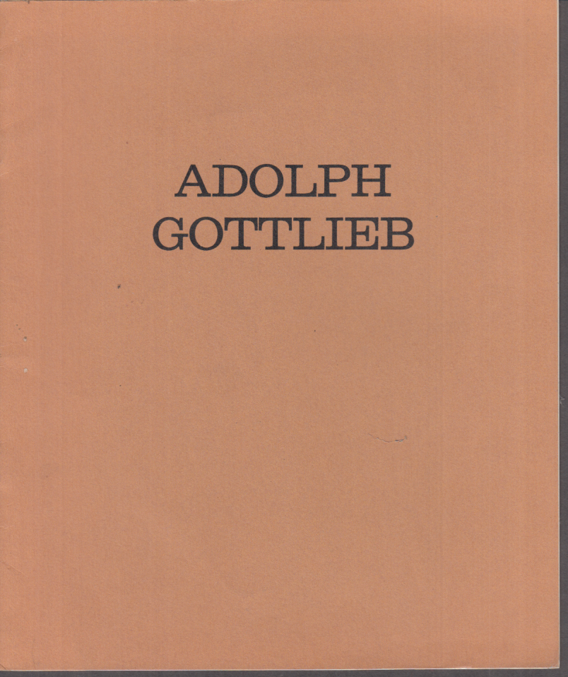 Adolph Gottlieb New Paintings exhibition catalog 1960 French & Co NYC