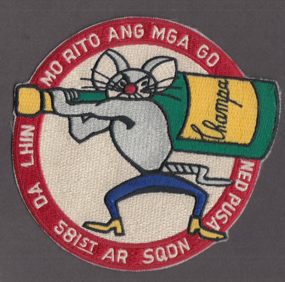 "USAF 581st Air ReSupply Squadron embroidered patch 5"" diameter"