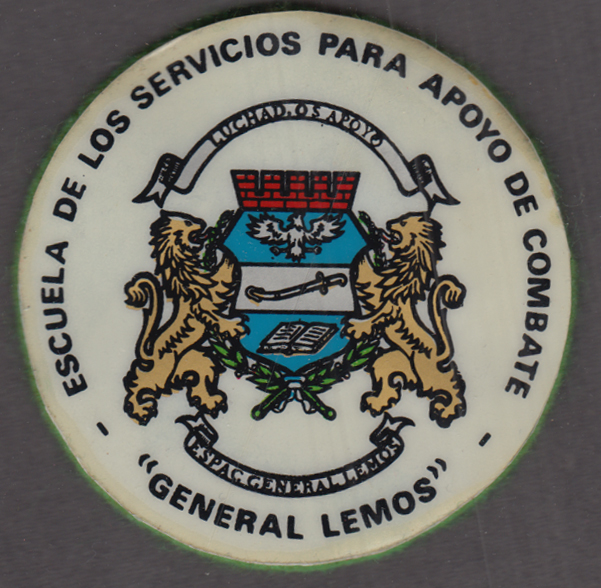 School of Support Services for Combat General Lemos felt-packed patch Argentina