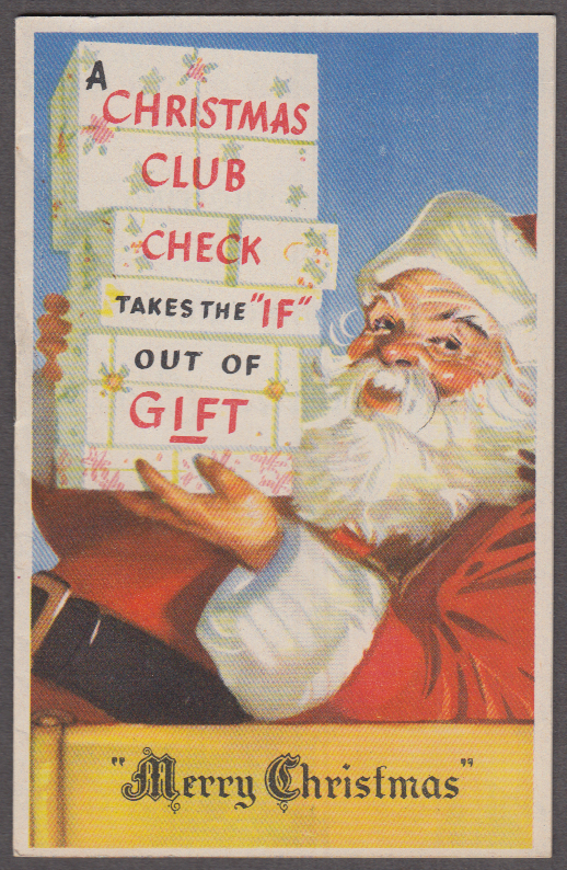 Hartford Federal Savings & Loan Christmas Club gift & card memo book 1945