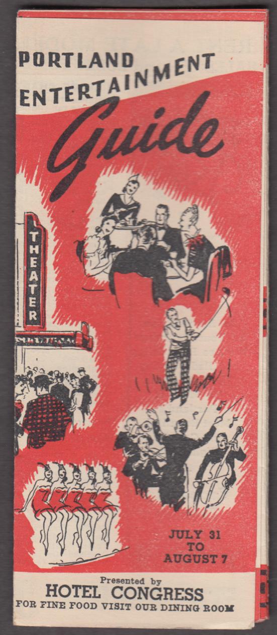 Portland Oregon Entertainment Guide Hotel Congress 1946