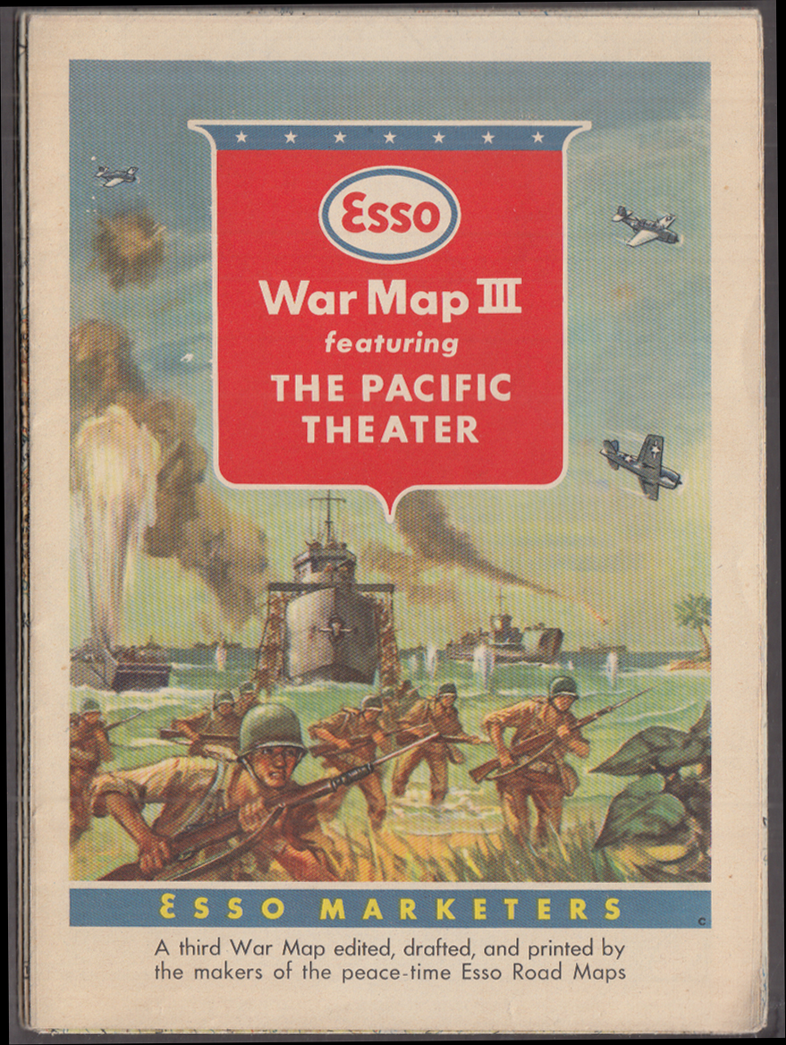 Esso War Map III featuring The Pacific Theater ca 1944
