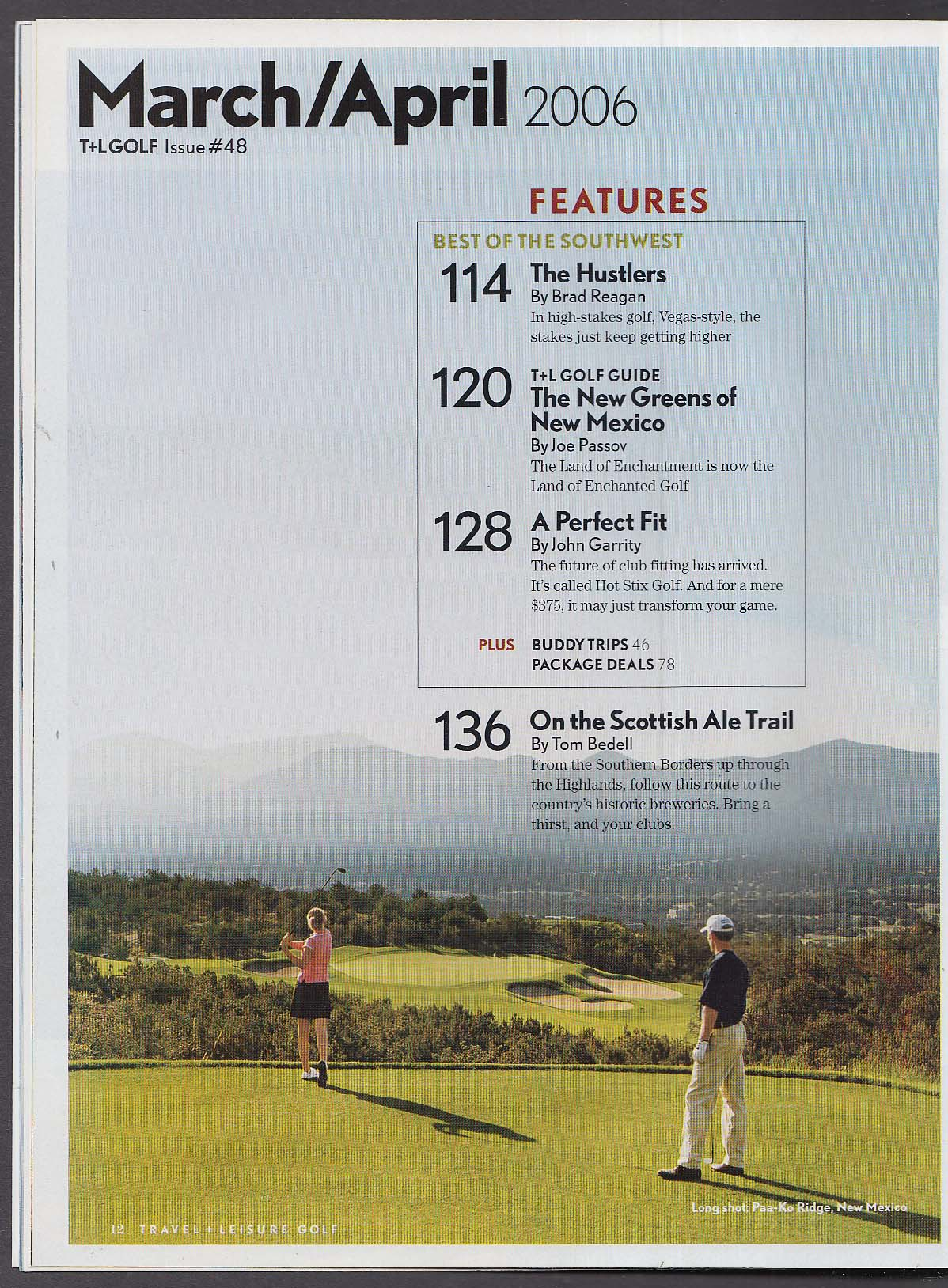 TRAVEL + LEISURE GOLF Greg Norman on Augusta; Tom Fazio; Bill Coore + 3-4 2006