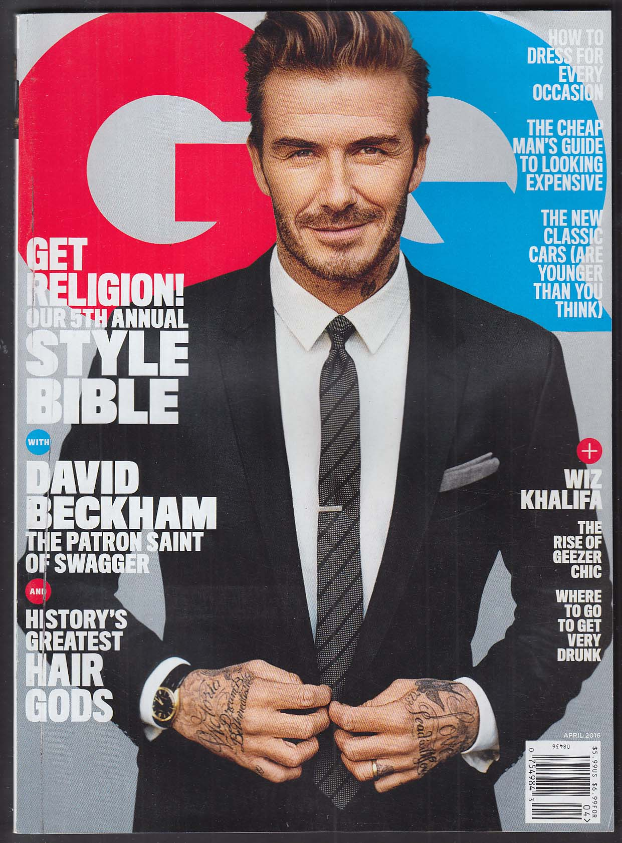 GQ David Beckham Wiz Khalifa Greg Lauren + 4 2016