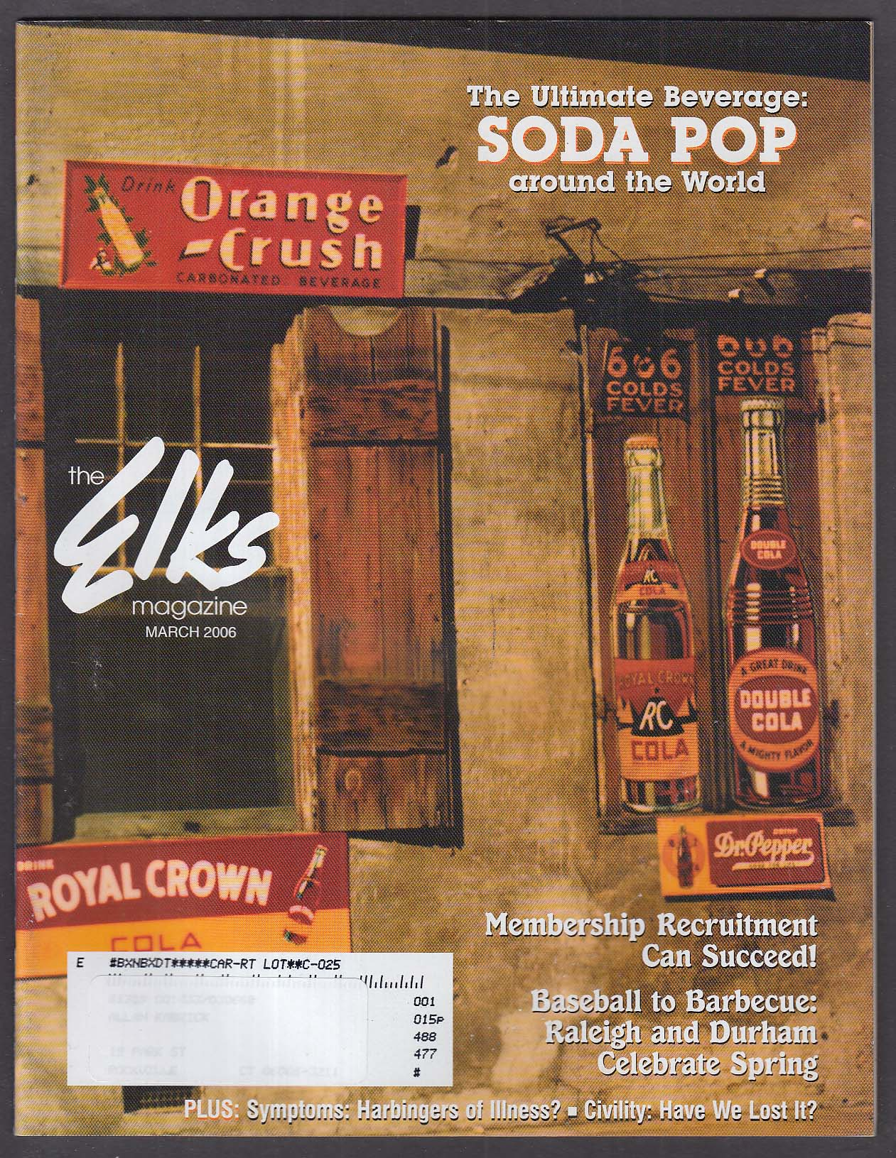 ELKS Raleigh & Durham NC; Drug Awareness; Soda Pop Retrospective + 3 2006
