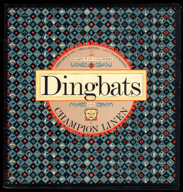 Champion Paper Company Dingbats paper sample publication 1989