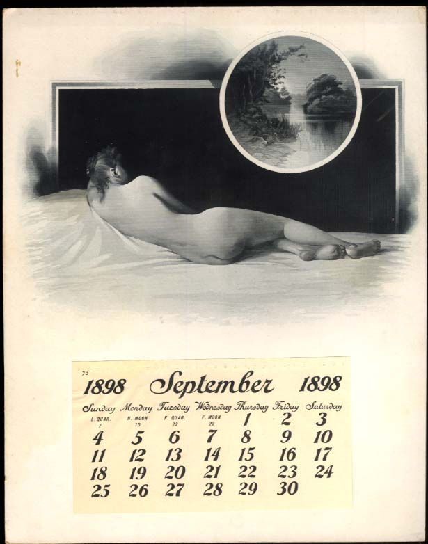Nude from behind #112 Steel Plate Calendar Sample 1898