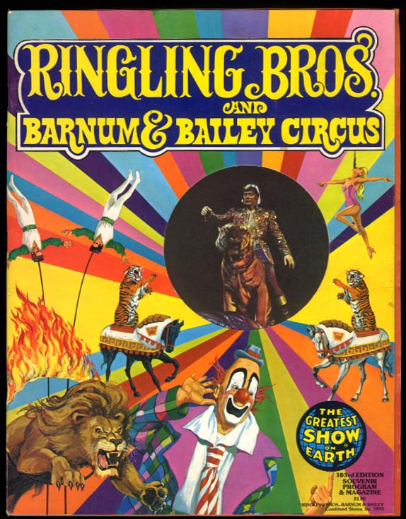 Ringling Bros & Barnum & Bailey Circus Program 1973 Gebel-Williams