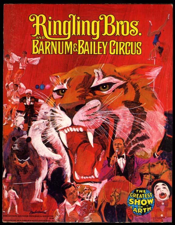 Ringling Bros & Barnum & Bailey Circus Program 1975 Michu poster