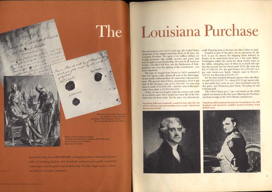 Bernard De Voto: The Louisiana Purchase 1953 Esso Standard Oil special