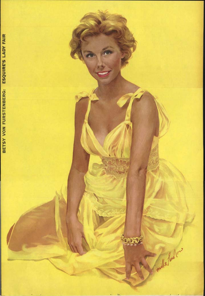 Betsy Von Furstenberg Esquire's Lady Fair pin-up foldout Mike Ludlow 1955
