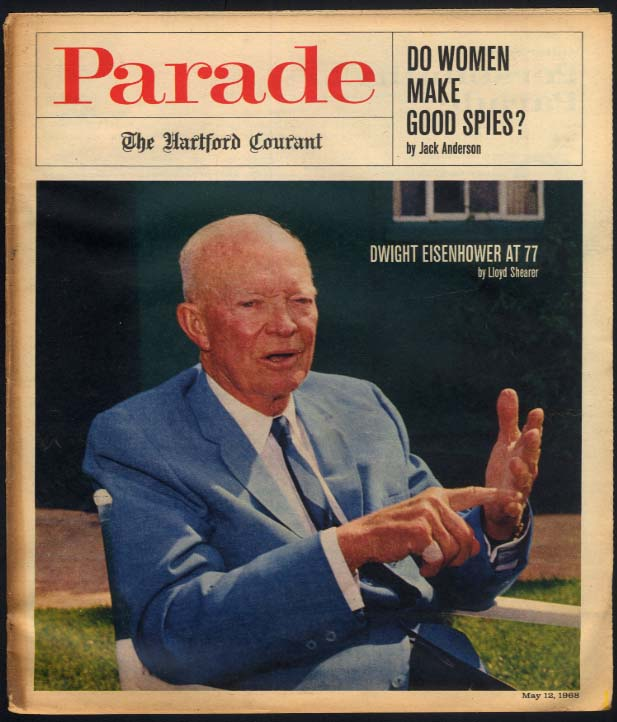 PARADE 5/12 1968 Dwight Eisenhower; Women as spies? Donald O'Connor jokes