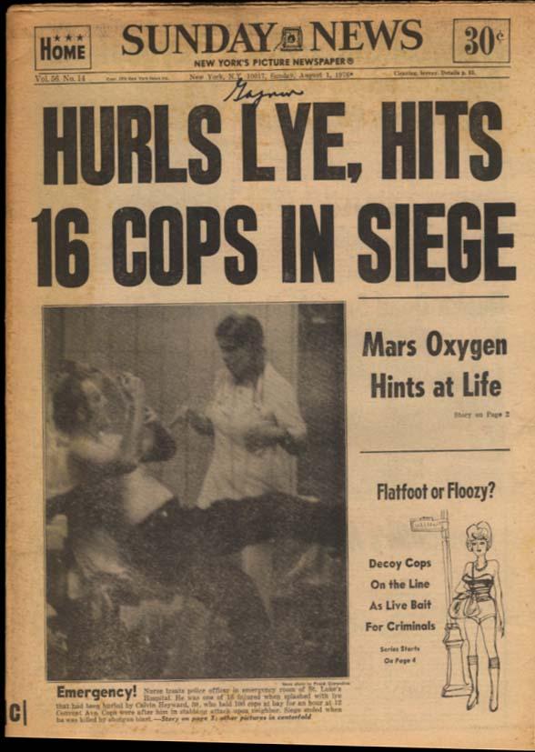 NY DAILY NEWS Sunday 8/1 1976 Yanks win Mets lose Bruce Jenner Dody Goodman