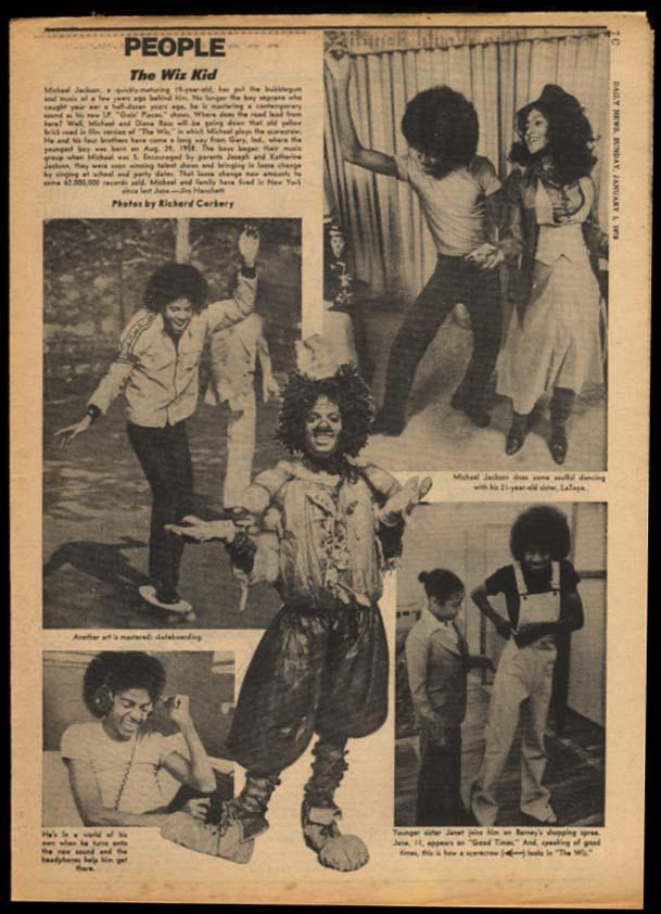 NY DAILY NEWS Sunday 1/1 1978 Carter-Sadat; Breslin; Michael Jackson UK over ND