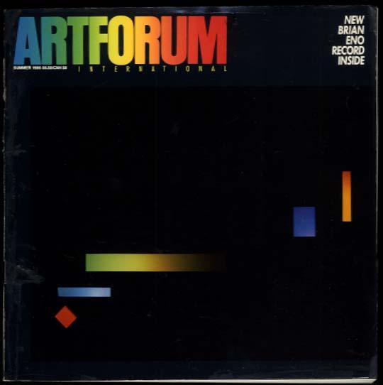 ARTFORUM Summer 1986 Brian Eno w/ record; Nauman Boetti Le Gac Robert Frank