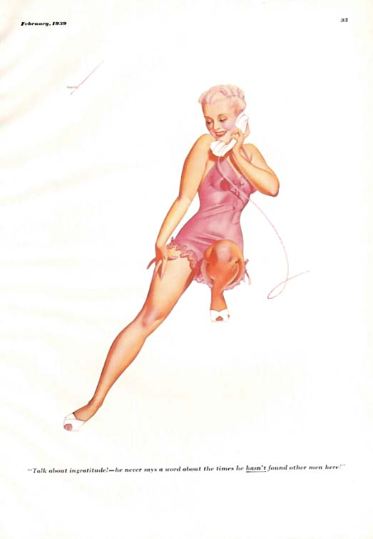 George Petty Girl pin-up Talk about ingratitude! 1939