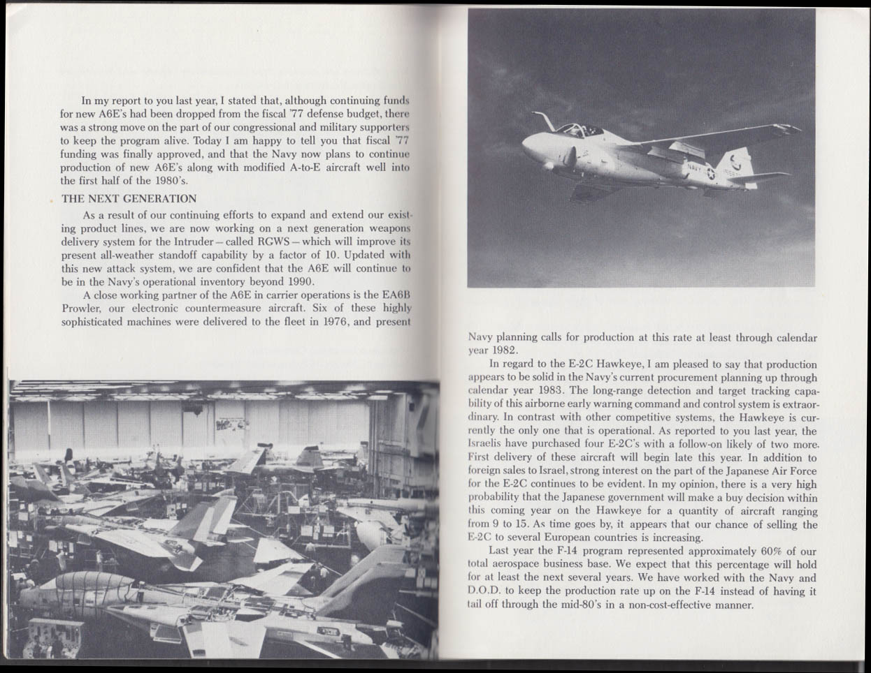 Grumman Aviation OVERVIEW 6 1977 Annual Meeting Report