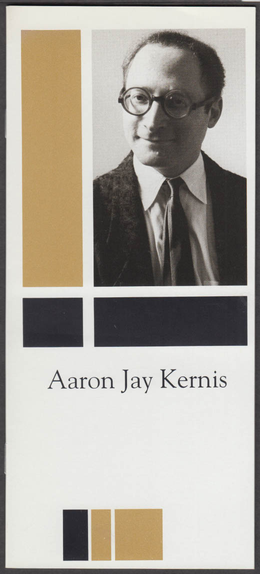 Composer Aaron Jay Kernis biography & list of works G Schirmer 1991