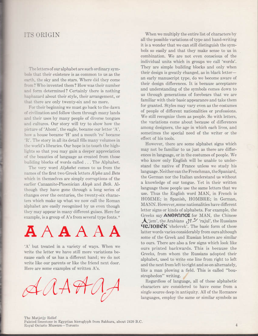 Provincial's Paper V31n1 1966 The History of the Alphabet issue