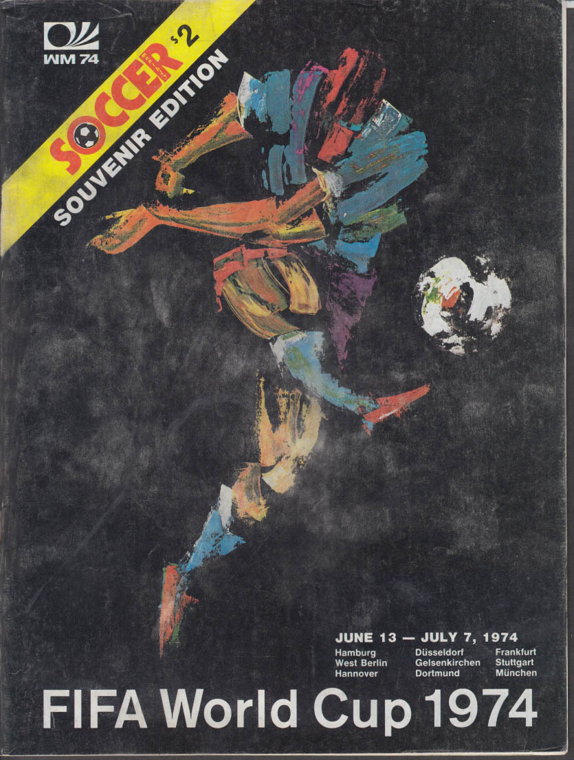 FIFA World Cup SOCCER MONTHLY souvenir edition 1974
