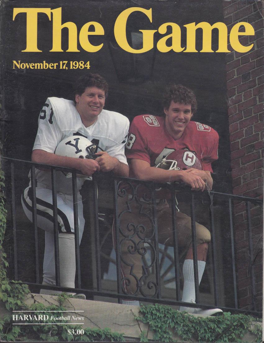 THE Game Yale at Harvard College Football Program 1984 Corvette ad