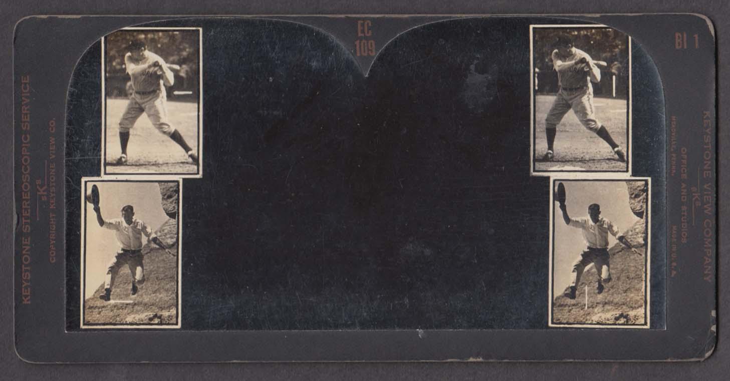Babe Ruth & Tom Mix Keystone Eye Comfort stereoscopic testing view 1920s