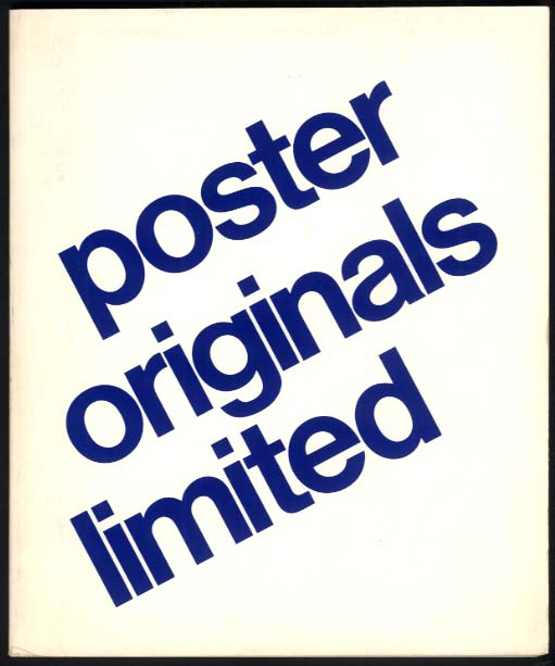 Poster Originals Limited Catalog 1988 Chagall Chwast Glaser Warhol +++