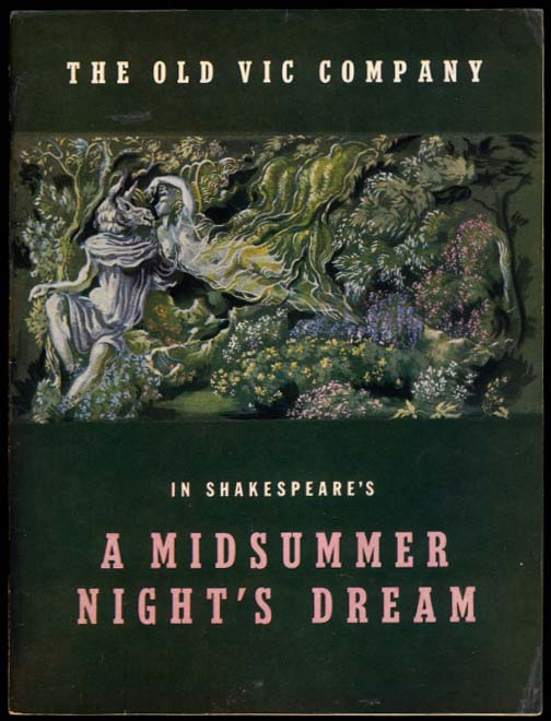 A Midsummer Night's Dream Old Vic program Moira Shearer Helomann Holloway