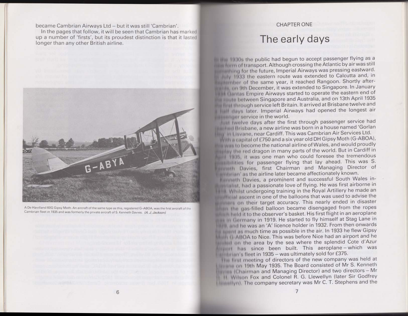 T G Staddon: History of Cambrian Airways: Welsh Airline 1935-76: 1979