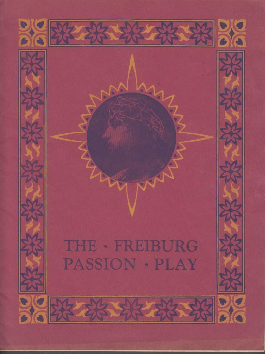 Frieburg Passion Play with Adolf Fassnacht Libretto & program Portland ME 1931