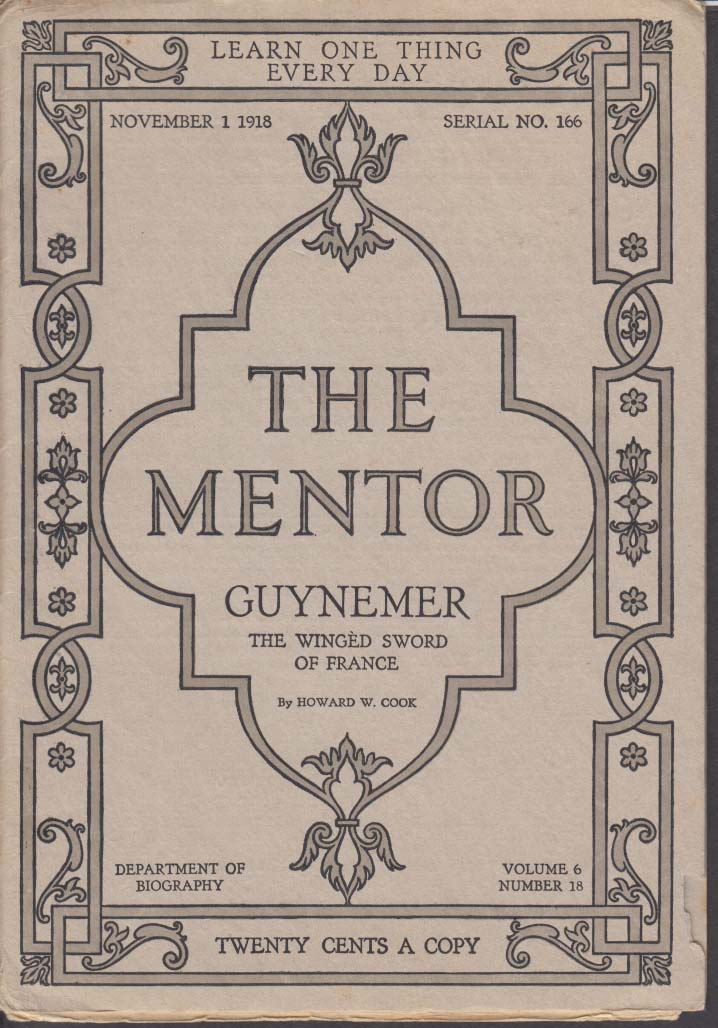 MENTOR #166 11/1 1918 French WWI Flying Ace Georges Guynemer