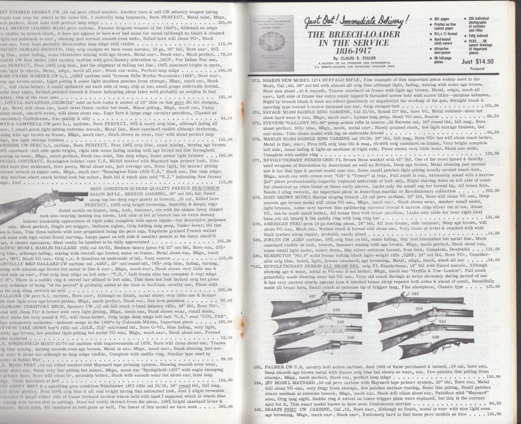 N Flayderman & Co Purveyors of Military Antiquities Catalog #72 1965