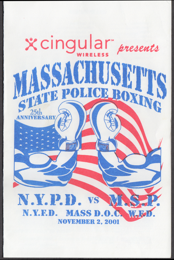 Massachusetts State Police vs New York Police Dept Boxing Program 2001