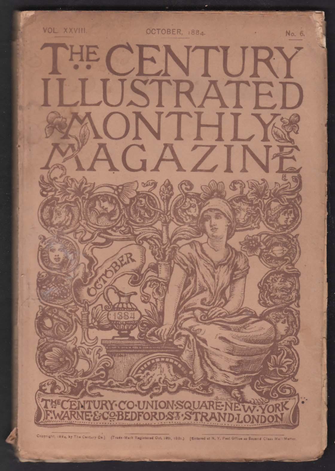 CENTURY ILLUSTRATED MONTHLY Rosa Bonheur Auston Dobson S P Langley ++ 10 1884