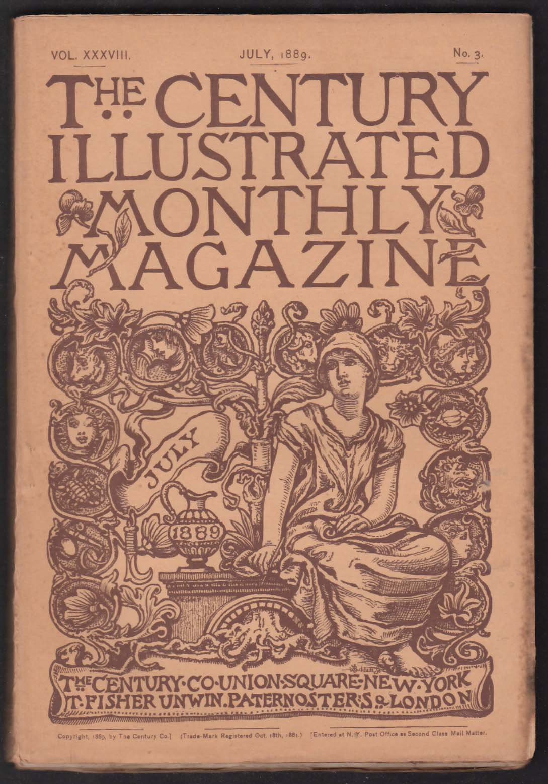 CENTURY ILLUSTRATED MONTHLY Frederic Remington Lincoln Charles de Kay + 7 1889