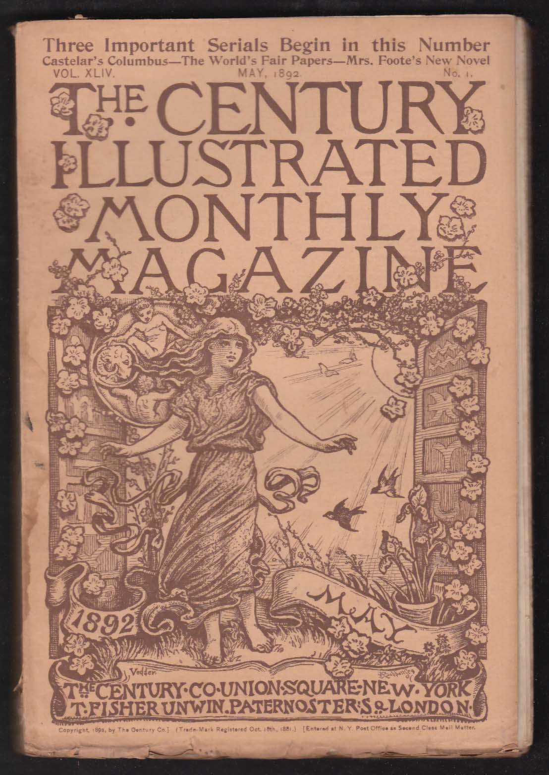 CENTURY ILLUSTRATED MONTHLY Thomas Couture Louise Chandler Moulton ++ 5 1892