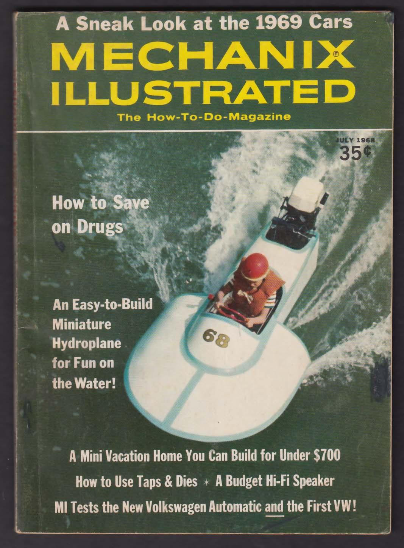 MECHANIX ILLUSTRATED Volkswagen Automatic road test Beetle + 7 1968