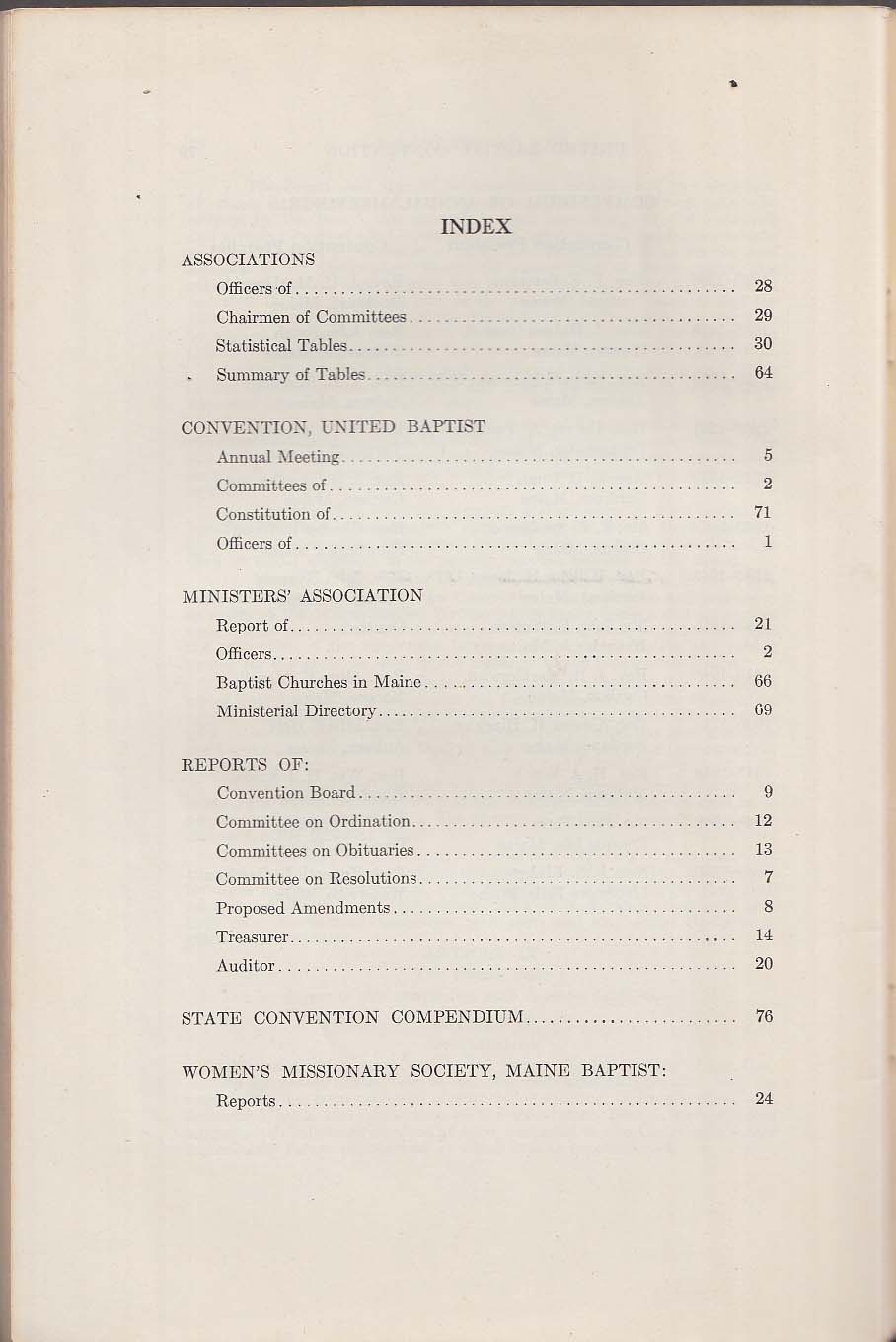 United Baptist Convention of Maine Yearbook 1950 Waterville ME