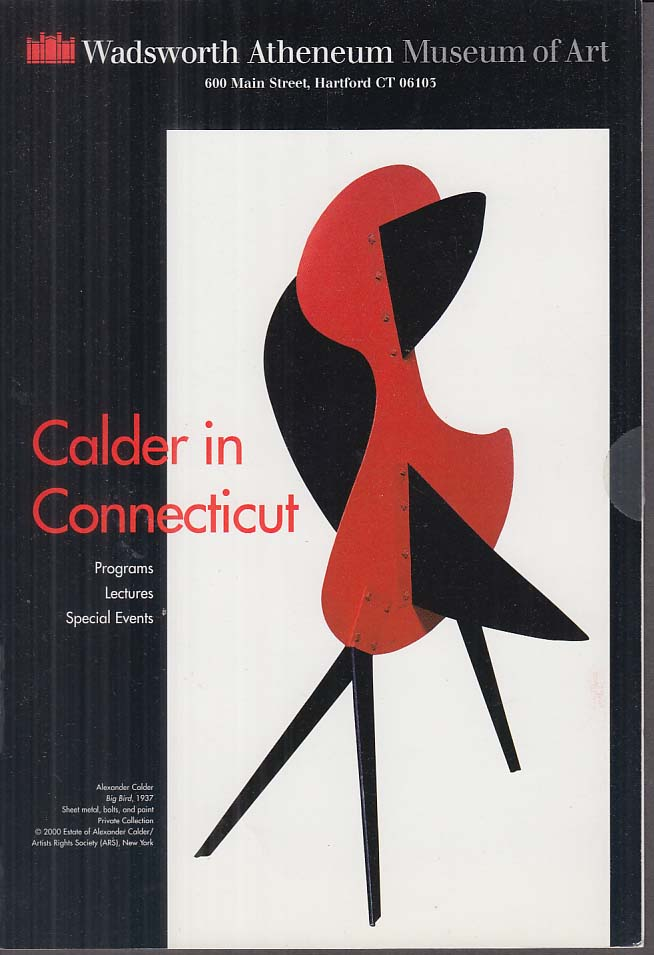 Calder in Connecticut Wadsworth Atheneum Lecture announcement mailer 2000