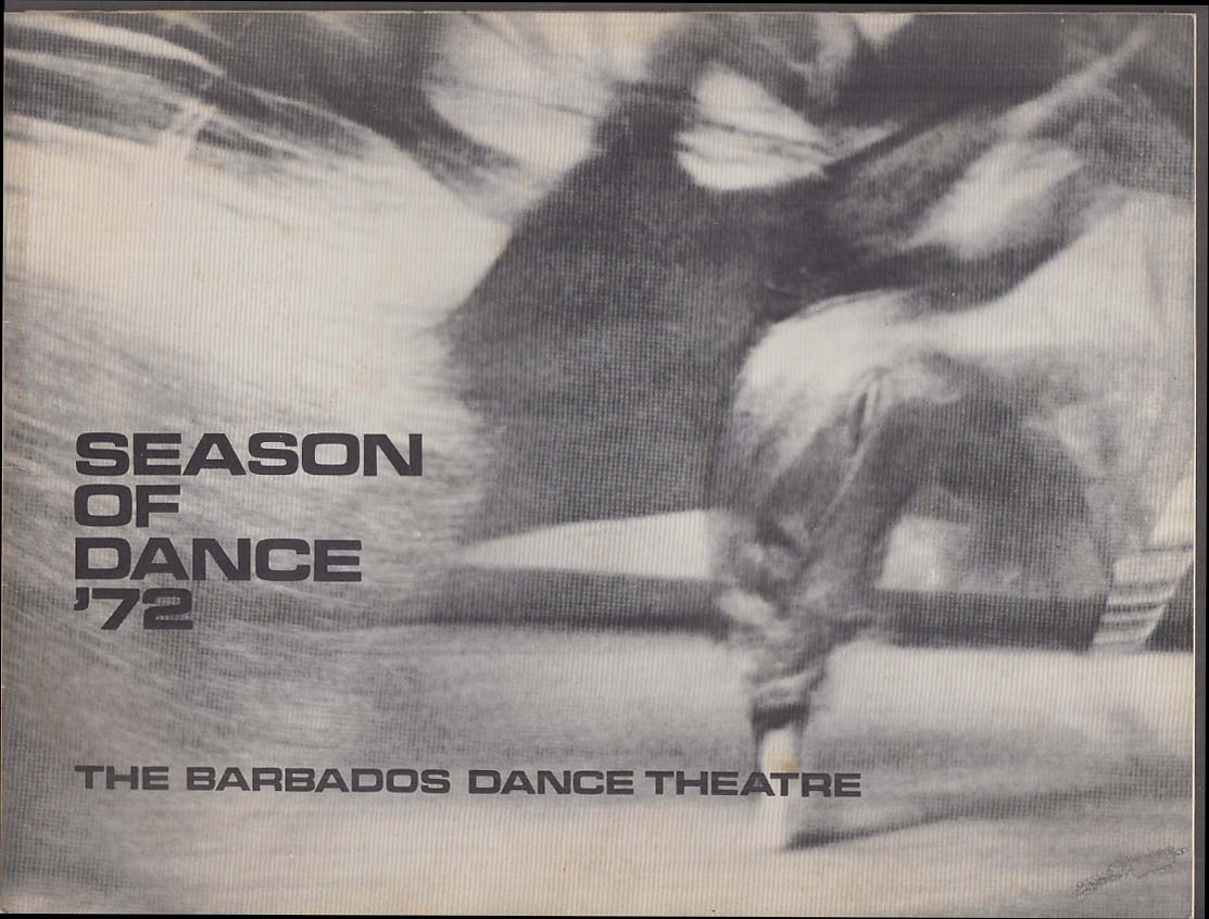 Barbados Dance Theatre: Season of Dance '72 souvenir program 1972