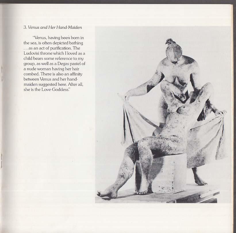 Peter Blume: Bronzes About Venus sculpture exhibition catalog 1975