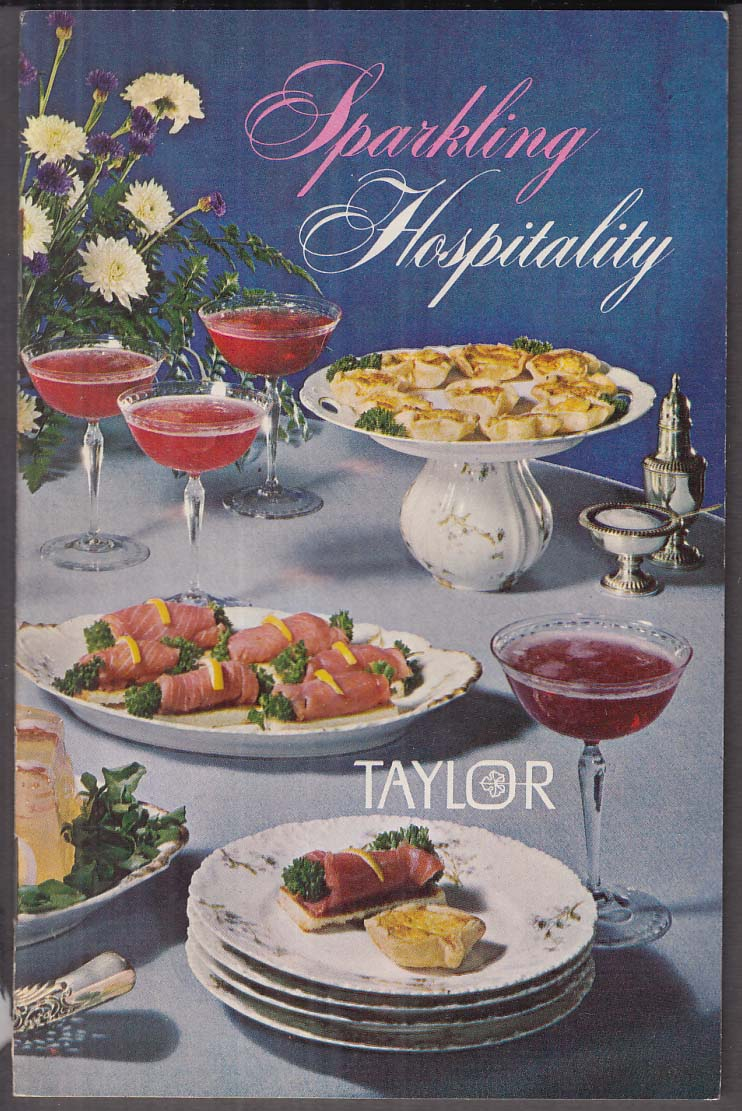 Taylor Wines Sparkling Hospitality Recipe Book 1965