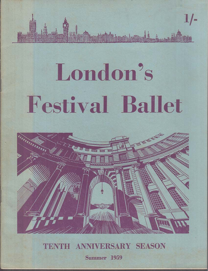 London Festival Ballet souvenir program Summer 1959 Dolin Landa Krassovska ++