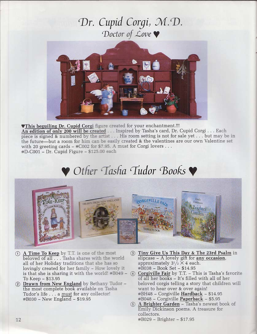 Tasha Tudor Timeless Treasures Spring-Summer 1992 Catalog