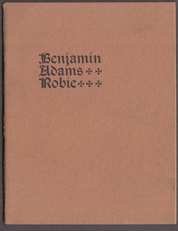 Evangelical Congregational Pastor Benjamin Adams Robie Funeral Grafton MA 1900