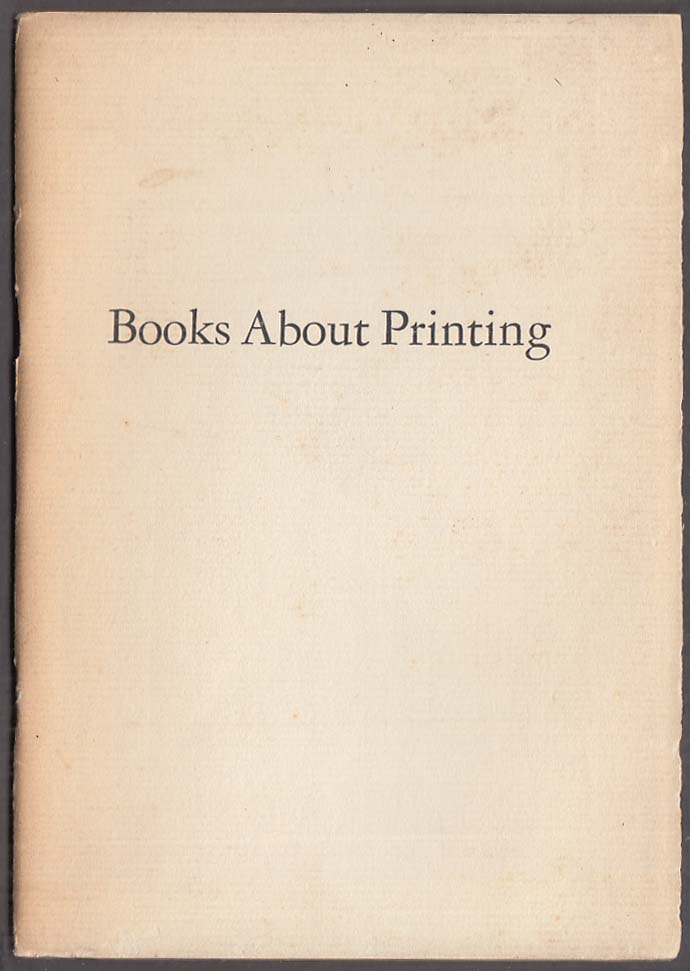 Portland High School Books About Printing booklet 19437 Fred Atheonsen intro ME