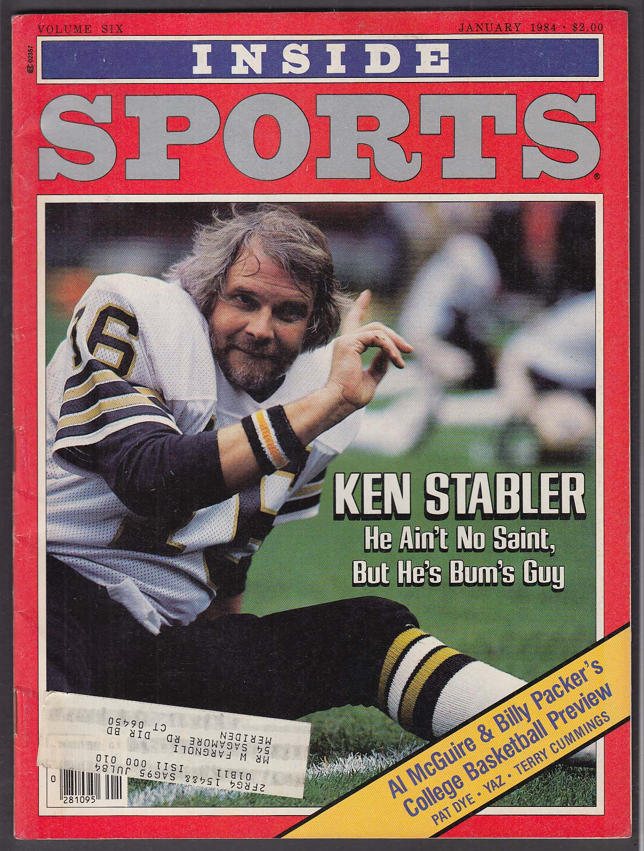 INSIDE SPORTS Ken Stabler Al McGuire Billy Packer + 1 1984